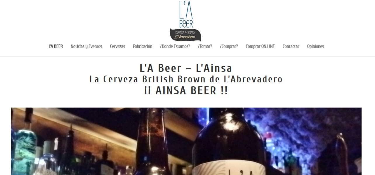 Nueva Web L'A Beer: La Cerveza Artesana de Ainsa realizada por L'Abrevadero