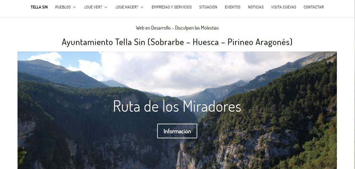Nueva Web Tella Sin (Huesca)